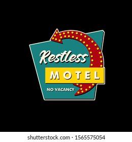 motel logo concept custom culture sign billboard american style