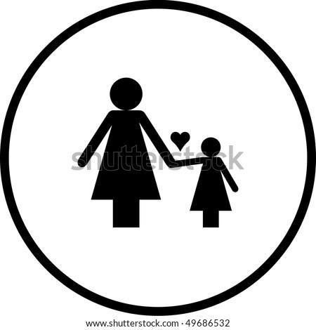 Mother Daughter Symbol Stock Illustration 49686532 Shutterstock