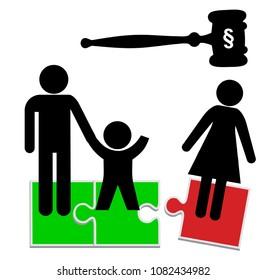 Mother loses child custody. The family court transfers the sole custody to the father after divorce