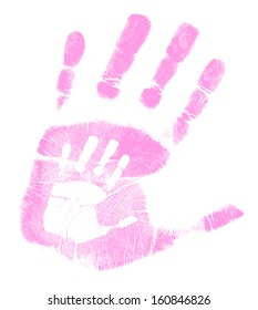 mother and son handprint illustration design over a white background