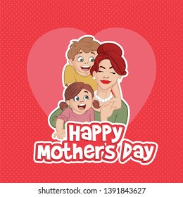 Mother Mother and son. Mother's day card, backgroundand son. Mother's day card, background