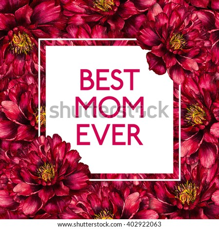 Royalty Free Stock Illustration Of Mothers Day Card Square Frame On