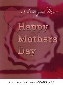 Mothers Day celebration illustration