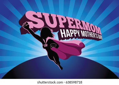 Mothers Day supermom design.