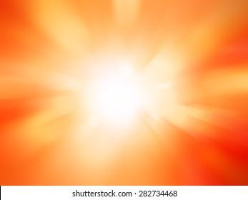 motion blurred lights abstract background , orange background.