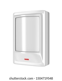 Motion detector isolated on white background, 3D illustration