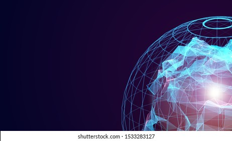 Motion loop intro copy space for digital innovation technology future fintech business abstract concept in international world global communication network blockchain decentralize linkage transaction
