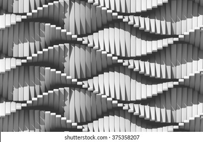 Motion white elements. Regular design. Abstract 3d background.