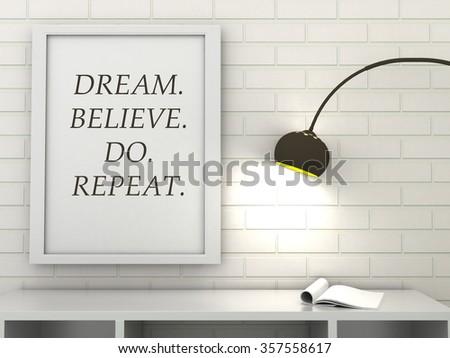 Motivation Poster Smile Love Dream Inspirational Stock Illustration ...
