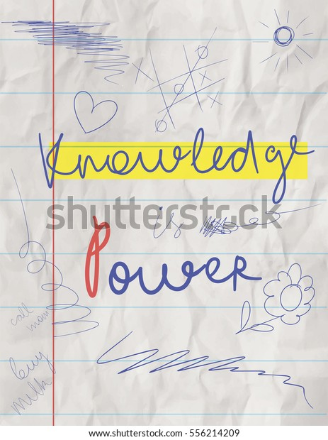 Motivational Poster College Students Crumpled Notebook Stock