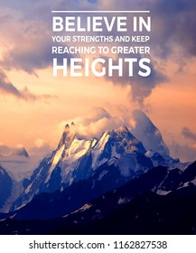 Motivational Typography: Believe in your strengths