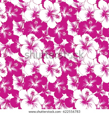 Motley hibiscus flower background pretty pink stock illustration hibiscus flower background pretty pink magenta and white floral print mightylinksfo