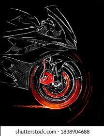 Moto motorbike motorcycle speed race