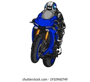 Motorcycle bike design cartoon racing spreed