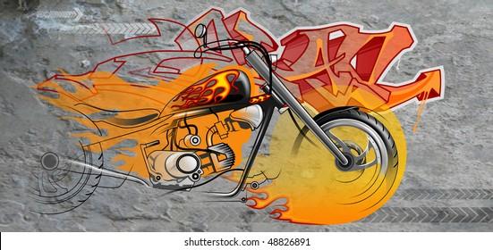 Motorcycle Graffiti