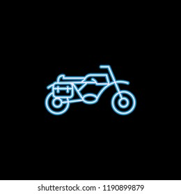 motorcycle icon in neon style. One of motobike collection icon can be used for UI, UX