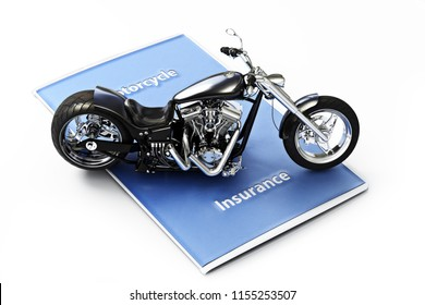 Motorcycle insurance coverage concept. 3d rendering