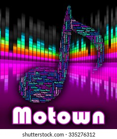 Motown Music Indicating Sound Track And Audio