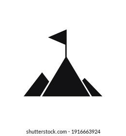 mountain icon illustration and icon