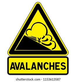 Mountain Warning Sign: watch out for avalanche
