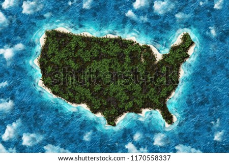Mountains Forest Map United States America Stock Illustration ...