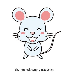 Mouse Animal Character Cute Illustration