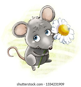 Mouse with camomille