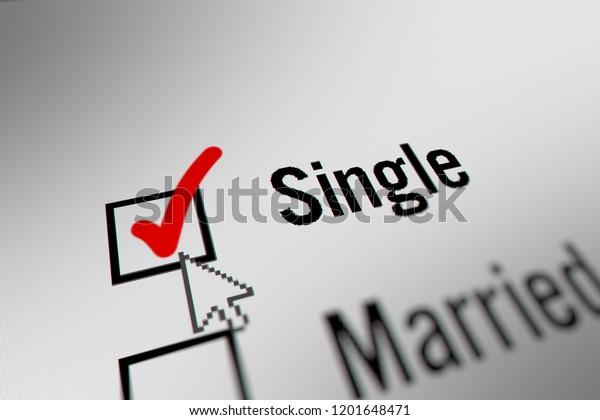 Mouse Cursor Choosing Marital Status Single Stock Illustration 1201648471
