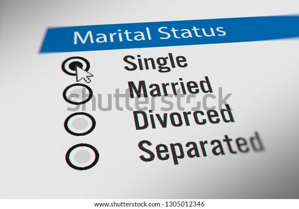 Mouse Cursor Choosing Marital Status Single Stock Illustration 1305012346