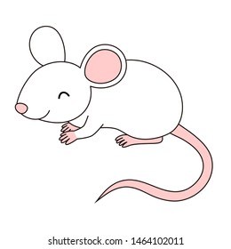Mouse stand illustration cute cartoon