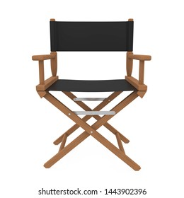 Movie Director Chair Isolated. 3D rendering
