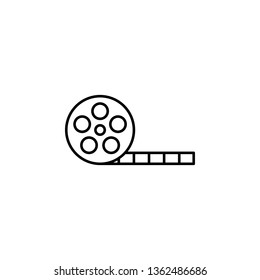 movie tape icon. Simple thin line, outline illustration of movie, cinema, film, screen, flicks icons for UI and UX, website or mobile application