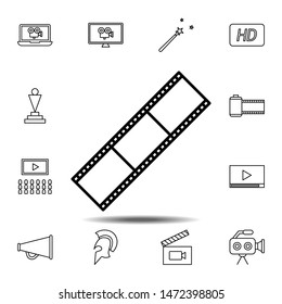 movie tape icon. Simple thin line, outline illustration element of Cinema icons set for UI and UX, website or mobile application