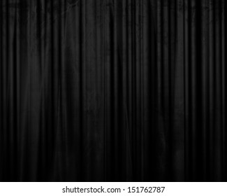 movie or theater curtains with some folds in it