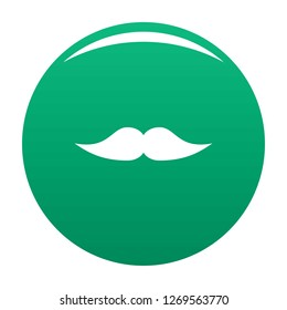 Movie whiskers icon. Simple illustration of movie whiskers icon for any design green