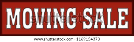 moving sale red logo banner stamp stock illustration 1169154373