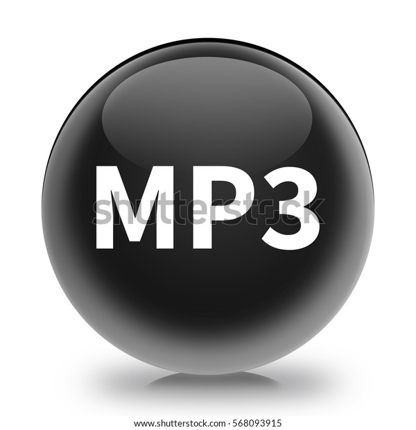 mp3 icon. Internet button.3d illustration.