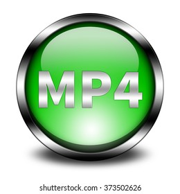 mp4 button isolated