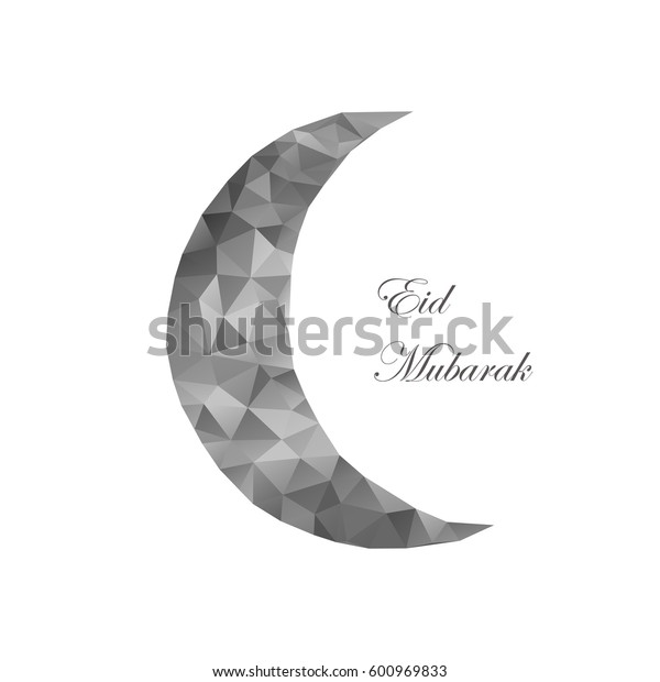 Mubarak background with arabic mandala moon. Can be use as sticker, tag,  design greetings card or label