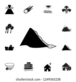 mudflow disaster icon. Set of natural disasters icons. Signs and symbols collection, simple icons for websites, web design, mobile app, info graphics