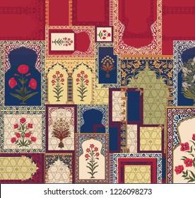 Mughal art pattern