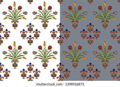 mughal floral motif  background pattern