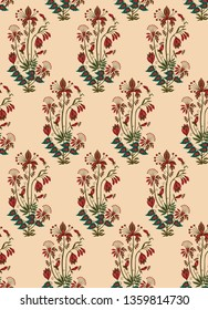 mughal floral motif bunch pattern 01