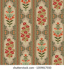 mughal floral motif bunch pattern 04