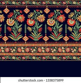 mughal floral motif decorative border