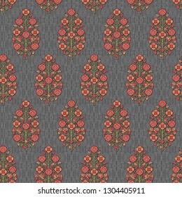 mughal floral motif   seamless fabric texture pattern