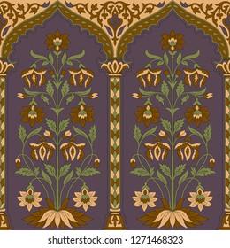 mughal flower horizontal border