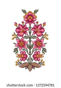 mughal flower motif
