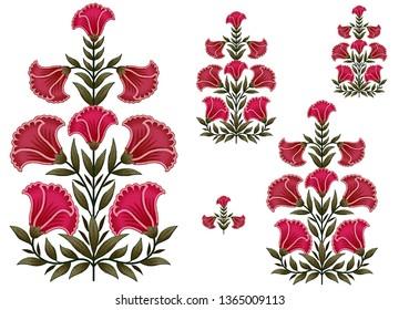mughal flower motif bunch border