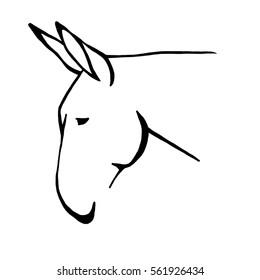 Mule Head Outline